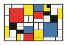 PIET MONDRIAN abstract cubes squares rectangles VINTAGE ART POSTER 24X36 new