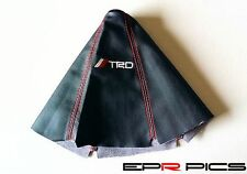 Leather Gear Gaiter Red Stitching TRD Logo for Toyota Supra MR2 Corolla Celica