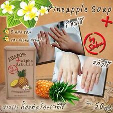 Alpha Arbutin AHA 80% Pineapple Bar Soap Whitening Lightening Bath Body Skin