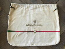 """GUCCI"" BOUTIQUE Vintage Red/Green & Gold Storage Bag/Dust Cover/Purse"