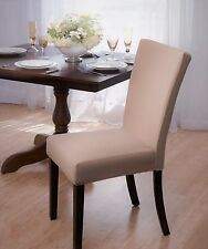 "SUBWAY TILE  ""STRETCH""  DINING CHAIR COVER--BEIGE--COMES IN 4 COLORS--CLEARANCE"