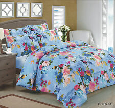 Duvet Quilt Cover with Pillow Case Bedding Set Size Double Design SHIRLEY