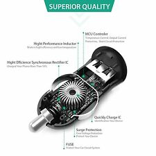 [Qualcomm Certified] Aukey Quick Charge 2.0 18W USB Car Charger