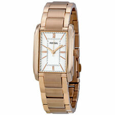 ES2731 Fossil Adele Women's Silver Dial Rose Gold Stainless Steel Bracelet Watch