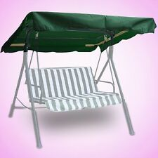 "New 77""x43"" Outdoor Swing Canopy Replacement Porch Top Cover Seat Patio Green"