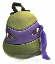 TMNT Ninja Turtles Turtle Head Plush Doll Backpack Donatello Purple Bag