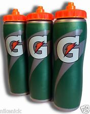 3 PACK of 32oz Insulated Gatorade Water Bottles with Gator Skin Grip- BRAND NEW!