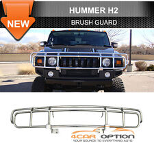 03-09 Hummer H2 H2T Sut SUV Chrome Polished Brush Grille Front Guard