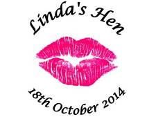 35 Personalised Hen Party Stickers Pink Lips 3 FOR 2 Sticker Lables Night Out