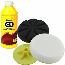 Farecla G3 Advanced 1L Liquid Compound+Fast Mover Backing pad/Foam Polishing Kit