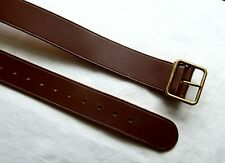 Schweizer Militär Koppel Leder braun 100 cm Swiss Switzerland military belt