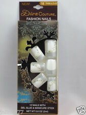 Lot 10x New Diva Couture Fashion Nails with Gel Glue & Manicure Stick