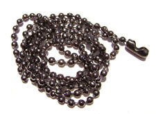 """Necklace Ball Chain 2.4mm MANY COLORS White Red Blue Green 16"""" to 28"""" 1 or 5 Qty"""