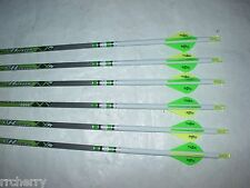 6 Gold Tip XT Hunter 400 5575 Carbon Arrows Custom White Dip Crest Blazer Vanes