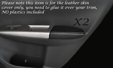 WHITE  STITCH 2X REAR DOOR ARMREST SKIN COVER FITS SUBARU IMPREZA WRX STI 08-13
