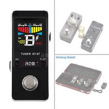NEW AROMA AT-07 Mini Tuner Effect Pedal Single Electric Guitar Effect AL O6F8