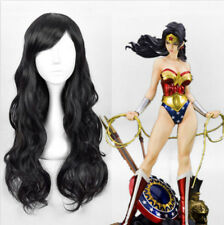 Wonder Woman Diana Prince cosplay wig sexy lady long black Wavy Silky hair wiG*