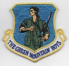 USAF 158th FIGHTER WING PATCH -   VERMONT ANG       HOOK & LOOP BACKING   COLOR