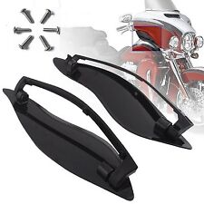 Black ABS Plastic Side Wings Air Deflectors For Harley Davidson Touring FL 14-Up