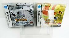 1 Box Protector for Pokemon Heartgold / Soulsilver case  Nintendo DS  NTSC