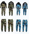 Men's Camouflage Tracksuit Jogging Bottom Sweat Suits Hoodies UK S M L XL