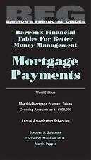 Mortgage Payments, Barron's Financial Tables, Third Edition Barron's Financial