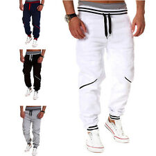 Fashion Mens New Jogger Dance Sportwear Baggy Sweatpants White Size XXL