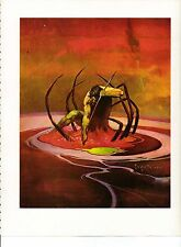 "1975 full Color Plate ""Spiderman"" by Frank Frazetta Fantastic GGA"