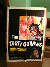 DIRTY OUTLAWS,THE-CHIP CORMAN,ROSEMARIE DEXTER-1971-ORIGINAL MOVIE POSTER