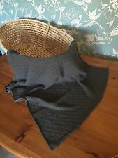 Beautiful  10% cashmere 90% soft wool baby blanket. col. Dark grey