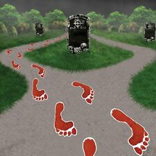 Pack of 14 Bloody Feet Paper Footsteps Halloween Party Decoration
