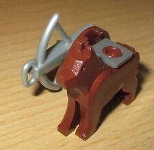 Lego Figuren Zubehör 1 Brauner Hund mit Waffe