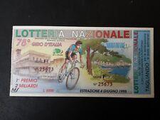 BIGLIETTO LOTTERIA GIRO D'ITALIA  1995