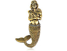 US Chic Retro Gold Brass Sweet Princess Mermaid Fashion Jewelry Pin Brooch