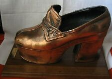 Estate of Rosetta Pelosato de Ferrari Verdi COPPERED DISCO 1970s PLATFORM SHOE!