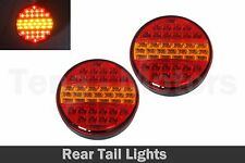 2 x LED Rear Tail Indicator Stop Hamburger Lights Lamps Trailer Truck 24V /088