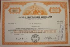 1970 Stock Certificate: 'National Semiconductor Corp.' Texas Instruments- Orange