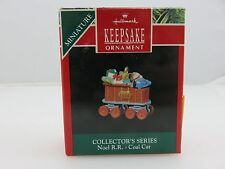 Hallmark Keepsake Christmas Ornament NOEL R.R. COAL CAR Miniature Train