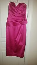 Pink Strapless evening or party or wedding dress - Size 12 - NWOT