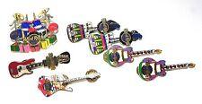 Seminole Hard Rock Casino Lot of Guitar Pinback Pins Lot of 7