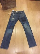 Bnwt homme ralph lauren denim & supply coupe slim jeans taille W30/L34 rrp 245 £