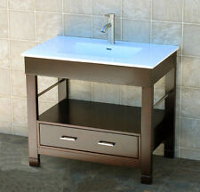 "CG36"" Bathroom Vanity Cabinet  Ceramic Lavatory Top with Integrated Sink"