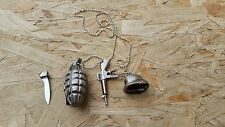NEW Weapon Combat Pendant Tactical Necklace Neck Knife with Hidden Sword New