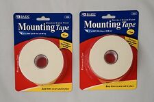 "(2x) Double Sided Foam Mounting Tape by Bazic, 1"" x 200"""