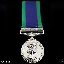 FULL SIZE GENERAL SERVICE MEDAL WITH NORTHERN IRELAND CLASP - NI GSM 1962 REPRO.