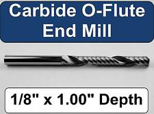 "1/8"" x 1.00"" Depth 'O' Flute Carbide End Mill -  Aluminum Plastic Acrylic A-1-4"