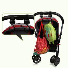 Baby Stroller Swivel Hook Pushchair Hook&Loop Strap Hanger Pram Accessories 2PC