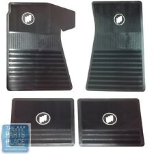 61-75 Buick Skylark / GS / Wildcat / Electra - 4 Rubber Floor Mats Set - Black