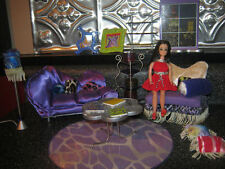 Adorable Dawn Funky Living Room Playset for Vintage 70's Topper Dawn Pippa Doll