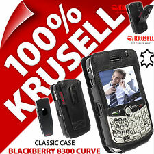 Krusell Classic Case Genuine Leather Cover + Belt Clip for BlackBerry 8300 Curve